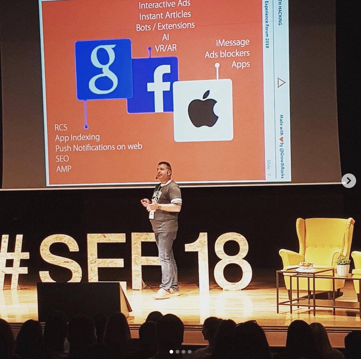 Speaking in SEF 18